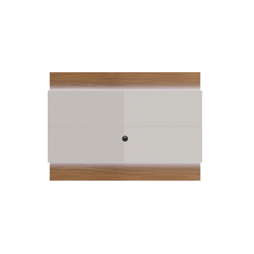 Painel para TV Lincoln 195 cm - Natural c/ Off White Brilho