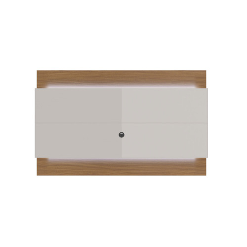 Painel para TV Lincoln 220 cm - Natural c/ Off White Brilho